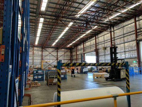 Electrical warehouse lighting Industrial Project